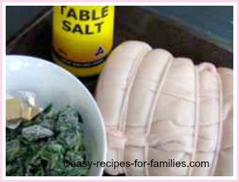 ingredients for stuffed roast pork