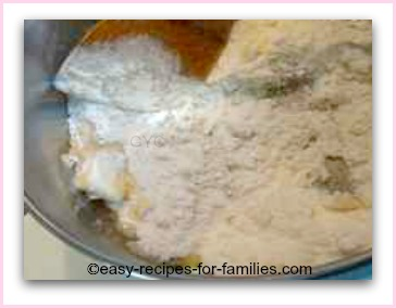 add in all the flour to make the white sauce