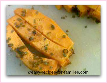 slices of roasted pumpkin