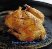 A roast chicken from easy chicken recipes
