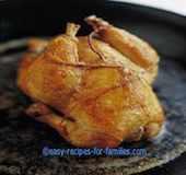 A roast chicken from easy chicken recipes