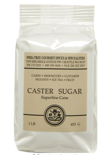 India Tree Superfine Caster Baking Sugar in 1 lb bag