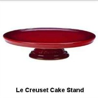 Le Creuset Stoneware Cake Stand In Cherry Red. Also in Marseille Blue. CLICK HERE FOR MORE DETAILS