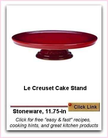 Le Creuset Cake Stand - Stoneware in Cherry Red 11.75 inch diameter