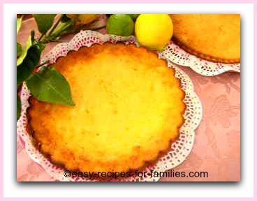 Lemon Tart made in a Tart Pan