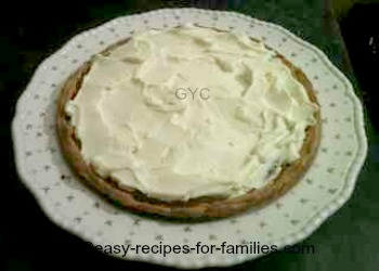 whipped cream topping a low fat pumpkin pie