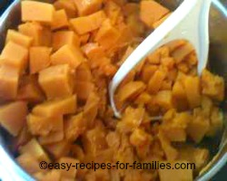 Cook Pumpkin For the No Bake Pumpkin Pie.