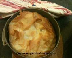 Baked fresh pumpkin pie