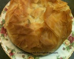 Baked Pumpkin pie plated