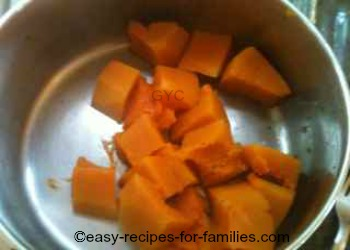 Left over pumpkin or steamed pumpkin