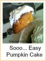 Pumpkin Cake - Delicous and so easy to make!