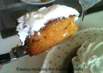 Easy Pumpkin Cake Plated