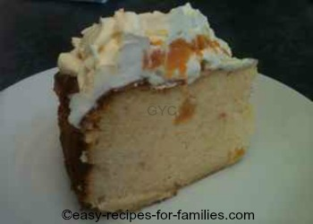 A slice of Pumpkin Cheese Cake