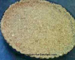 Make the Crumb Crust For The Pumpkin Cheesecake Recipe.