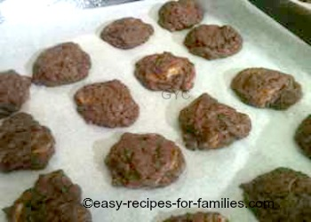 A tray of freshly baked chocolate pumpkin cookies