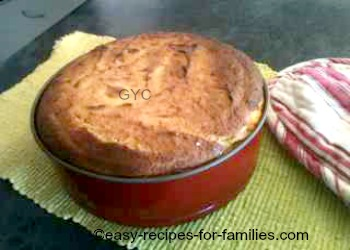 Baked pumpkin cheese cake in a spring form pan