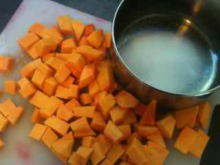 Cook Pumpkin For the Pumpkin Dessert.