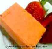 An elegant pumpkin dessert of Pumpkin and Chocolate Slice