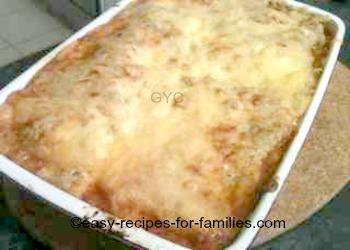 Baked pumpkin lasagne