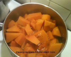 Boil the pumpkin till very soft