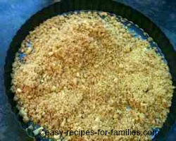 Spoon the mixture into the flan pan
