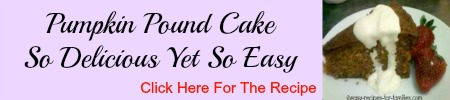 Pumpkin Pound Cake Personal Ad