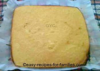 Pumpkin roll cake baked