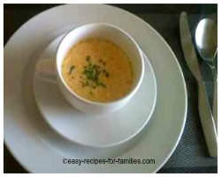Pumpkin Soup Recipe served at a dinner party