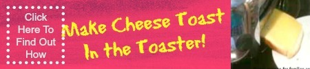 personal ad for cheese toast made in a toaster