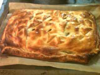 Baked ground beef wellington