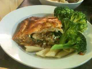 Plated ground beef wellington, an elegant recipe for ground beef
