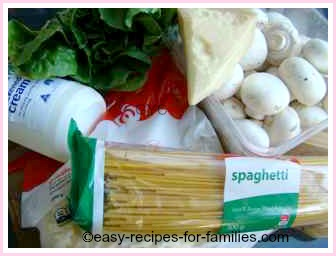 ingredients for this recipe for spaghetti sauce