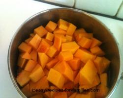 Boil the pumpkin till tender but not falling apart