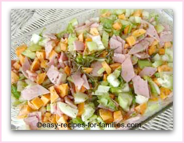 diced vegetables seasoned and oiled for roasting