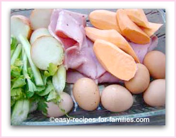 ingredients for roast vegetable fritata