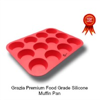 Grazia Premium Food Grade Silicone Muffin Pan - 12 Cup. CLICK HERE FOR MORE DETAILS