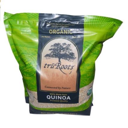 truRoots Organic Quinoa. Premium quality qunioa in 4 pound bags. Prewashed, Organic, Gluten Free, 100% Grain