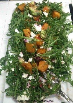A platter of baked pumpkin apple salad