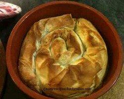 Baked filo swirl