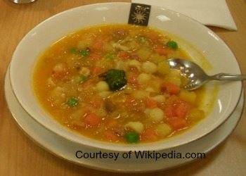 Camping Minestrone in a bowl