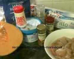 Ingredients For Diabetic Pumpkin Pie In Filo Pastry