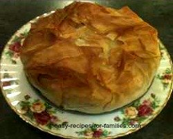 Diabetic Pumpkin and Chicken pie in filo pastry