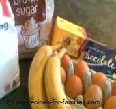 Ingredients for easy banana cake recipes