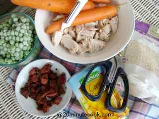 Ingredients for this easy chicken salad