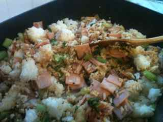 Easy Fried Rice Recipe - Combine The Ingredients