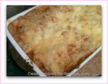 The easy lasagne baked