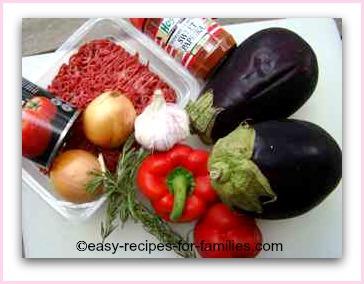 ingredients for easy ratatouille