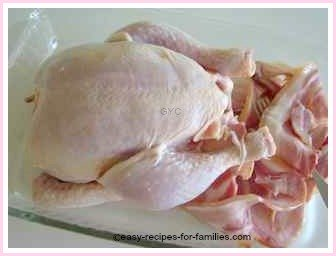 ingredients for this easy roast chicken