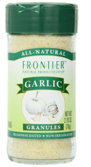 Frontier Garlic Granules in a 2.7 ounce bottle