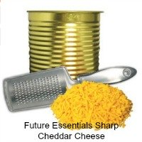 Future Essentials Freeze Dried Real Dairy Shredded Sharp Cheddar Cheese in a 9.9 ounce can. A long life product. CLICK HERE FOR MORE DETAILS